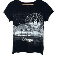 Disney Parks California Adventure Womens Black T-Shirt Size US Large