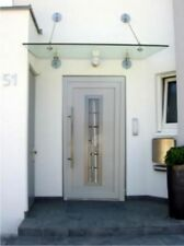 Entrance door model EXD 054 - white triple glazed with clear strips & Doors | eBay