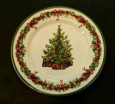"Christopher Radko ""Holiday Celebrations"" 8 3/8"" Salad Plate - Excellent"