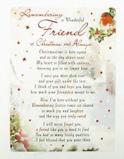 Christmas Memorial Card Graveside Friend Remembrance Poem Verse Grave Keepsake