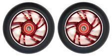 Bulletproof Scooter Wheel Metal Alloy Core 110mm ABEC 9 Bearings Anodized Red