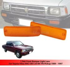 FRONT BUMPER ORANGE LIGHT LENS FOR TOYOTA HILUX PICKUP MK3 LN85 1989 - 1995