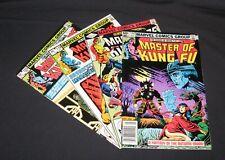Master of Kung Fu 1982-83 #114-123 lot o 4 bronze age Marvel comics,Gene Day art