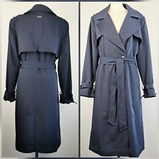 Centigrade Navy Blue Gabardine Trench Coat XL