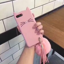 Hairball Tassels Hot Cute Cat Cartoon Soft Silicon Case Cover For Various Phones