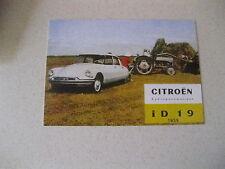CITROEN DS ID19 POSTCARD OF AN ORIGINAL ADVERT FROM 1959