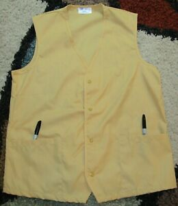 Worker Vest 2 Bottom Pockets Sizes XS to 7X Gold Unisex