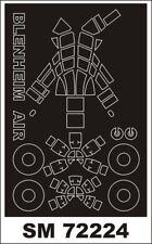 Montex Mini Mask 1:72 Blenheim I for Airfix Kit Spraying Stencil #SM72224