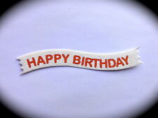 20 Sentiment Greeting Card Craft Message Banners HAPPY BIRTHDAY for Paper Crafts