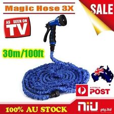 100Ft Pocket Self Expanse Expandable Flexable Stretch Magic Water Garden Hose 3X