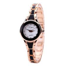 Luxury Women's Lady Rhinestone Crystal Stainless Steel Quartz Analog Wrist Watch
