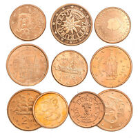 10 EUROPE UNION COINS. EUROZONE COLLECTIBLE COINS: EU CENTS, SETS