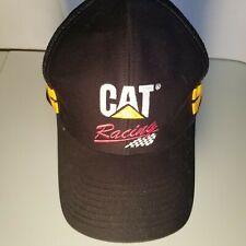 Cat Racing Snapback hat 2 Stripes cyrk black yellow