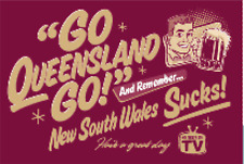 State of Origin Qld go go  large display banner / Flag