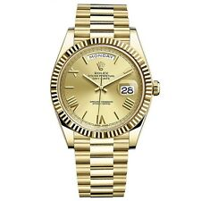 Rolex Day-Date President 40mm Yellow Gold Mens Watch Champagne Roman 228238