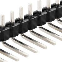 [10x] 1x40 Pin 2.54mm Right Angle Single Row Male Pin Header Connector - 90 deg