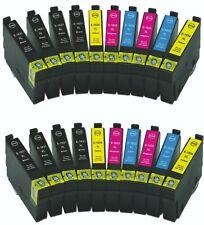 20 cartuchos COMPATIBLES para Epson WorkForce WF-2010W WF-2510WF WF-2010W 16XL