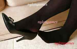 Un Joli Collant Opaque Noir A Sweet Opaque Black Pantyhose