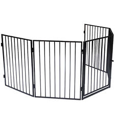Kaminschutzgitter Schutzgitter Ofenschutzgitter Gitter mit Tür Tierschutzgitter