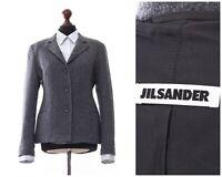Women's JIL SANDER Blazer Coat Jacket Wool Grey Size EU 40 US 10