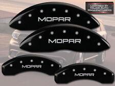"2008-2012 Jeep Liberty Front + Rear Black MGP Brake Disc Caliper Covers ""Mopar"""