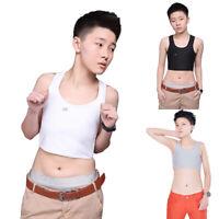 Tomboy Lesbian Solid Crop Vest Chest Binder Tank Tops Vest Breast FTM Undershirt