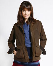 Brooklyn Industries Amelia Waxed Canvas Jacket in Brown Size XS