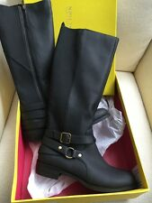 $100 KENNETH COLE REACTION 8 OR 8.5 BLACK GINA RIDING CASUAL BOOTS ADJUSTABLE