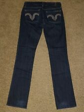 (25) 7 For All Mankind Kate Straight Leg dark blue stretch Jeans