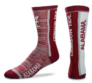 Alabama Crimson Tide RMC Bar Stripe Vert Deuce Crew Socks
