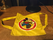 1983 MICKEY MOUSE THINGS TO DO YELLOW CANVAS BACKPACK / REAL PICS / WRONGWAY052