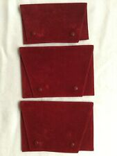 3 Authentic CARTIER Velvet Pouches For Jewelry Watches