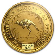 Australia 2 oz Gold Kangaroo/Nugget BU (Random Year) - SKU #29984