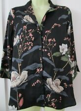 ⭐River Island 3/4 sleeve button up floral   Blouse Top size 10⭐