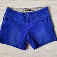 Prana blue corduroy Shorts Womens Size 4