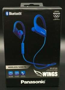 Panasonic WINGS Ultra-Light Wireless Bluetooth Sport Earphones (Blue) RP-BTS35-A