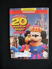 DISNEY WORLD - 20 YEARS OF MAGIC: NEWSWEEK MAGAZINE SPECIAL Fall/Win 1991, V.G.