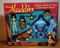 1992 Disney Aladdin - Jasmine, Rajah, & Genie playset (Mattel #5303) New