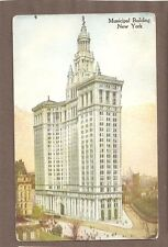 Vintage Postcard Unused Municipal Building New York City