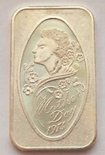 1974 MOTHER DAY SILVER .999 FINE ONE OUNCE MADISON MINT BAR