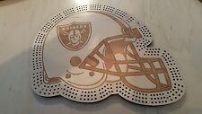 Oakland Raiders Football Helmet Three Track Cribbage Board