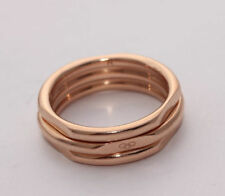18 Carat Rose Gold Precious Metal Rings without Stones