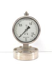 WIKA Plattenfedermanometer Duratherm 600 Glycerin 0-1,6 bar | Ø100 mm | Kl. 1.6