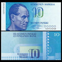 Finland 10 Markkaa, 1986 , P-113, UNC  Sign vary