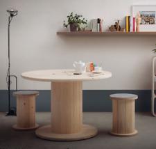 Tavolo in legno realizzato con bobina avvolgicavo nuova diametro 90- smontato