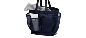Navy Blue Target Room Essential Mesh Shower Beach Travel Dorm Gym Tote Caddy Bag