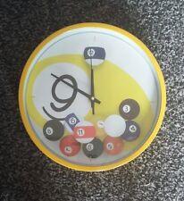 Reloj De Pared Pool Snooker Billar Batería Redonda Regalo Nuevo