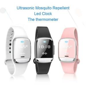 USB Rechargeable Anti-Mosquito Watch Ultrasonic Mosquito Repellent Bracelet
