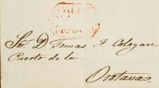 España. Canarias. Prefilatelia. sur . 1844. la Palma A la Orotava. Marque Palm