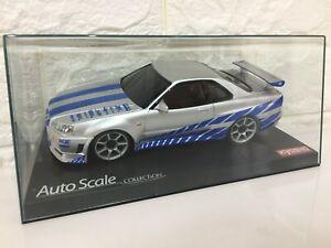 OLD Very Rare Kyosho MINI-Z Racer BODY SKYLINE R34 WILD SPEED  japan F/S